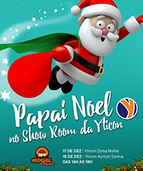 Papai Noel estará na Yticon